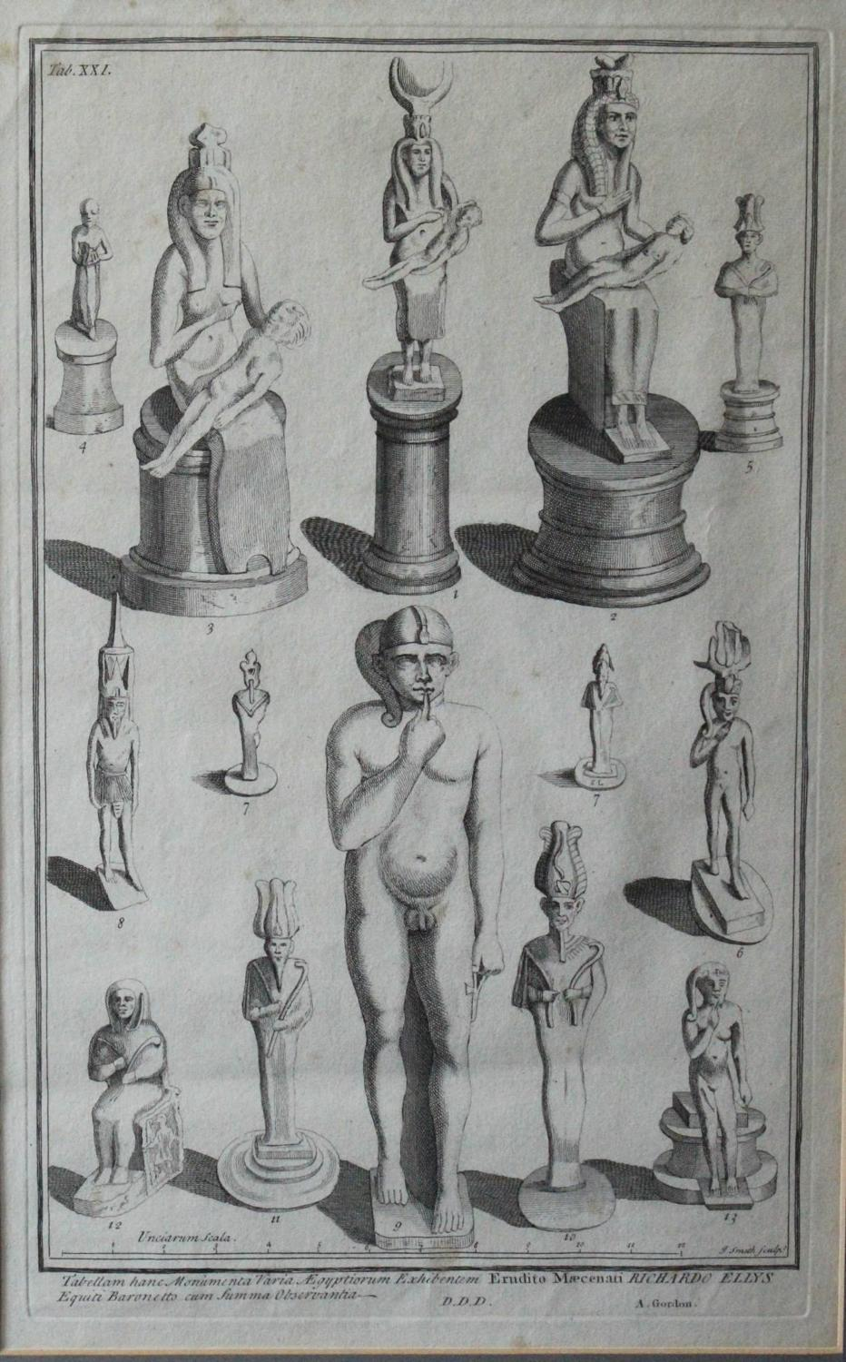 Alexander Gordon Engraving of Ushabti Figures from the Collection of Sir Richard Ellis, 1737