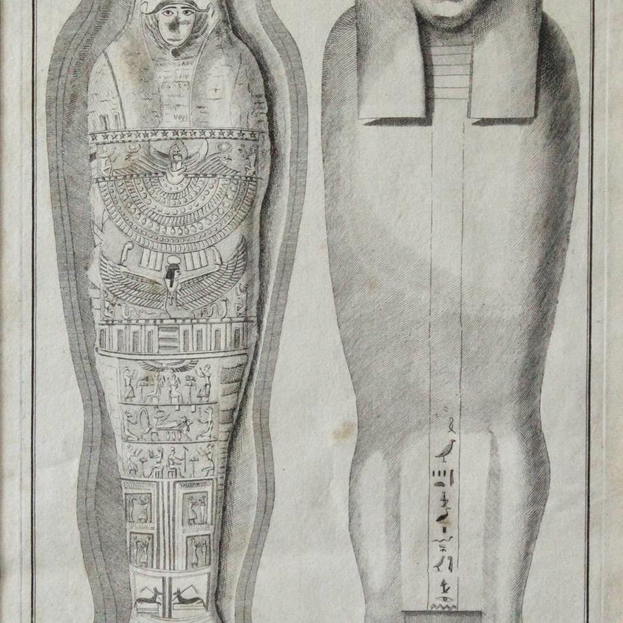 George Vertue after Alexander Gordon, Rare Engraving of an Egyptian Mummy from the Collection of Dr. Richard Mead, 1737