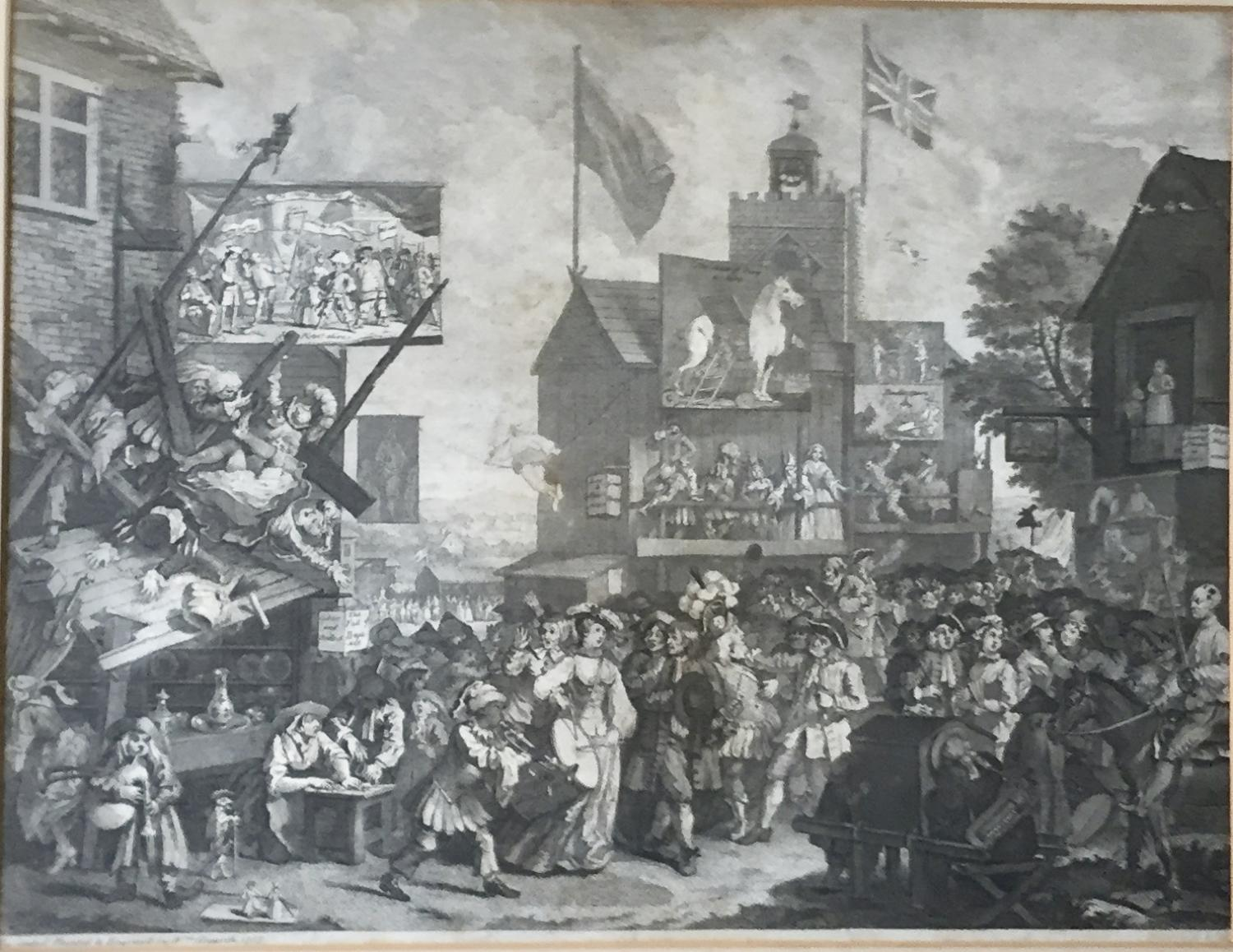 William Hogarth Engraving of Southwark Fair, 1733