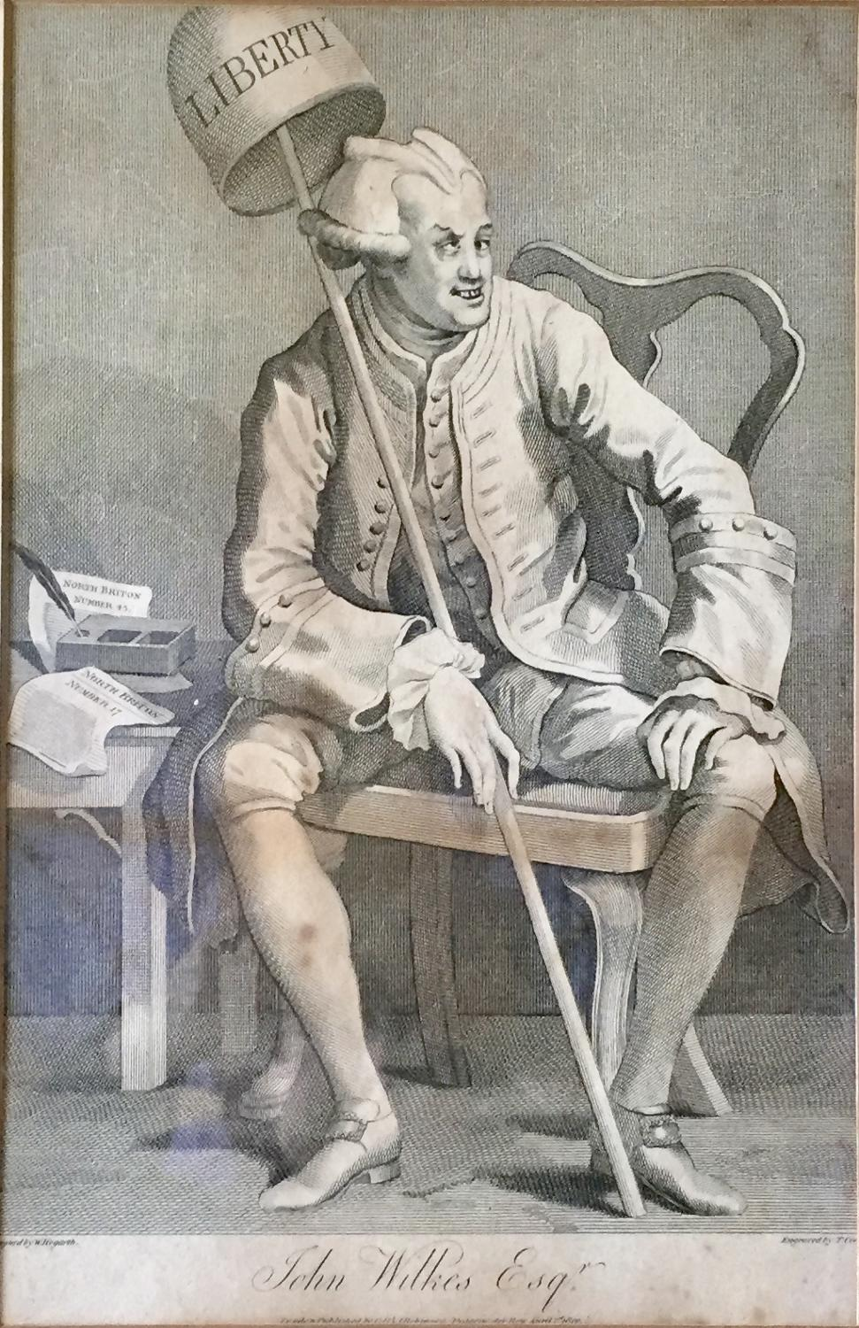 After William Hogarth, John Wilkes, Engraving