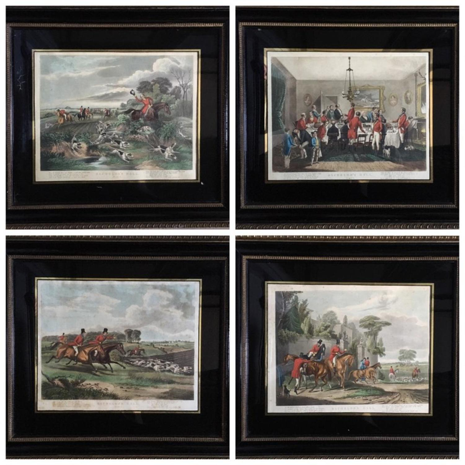 Five Hunting Prints - Bachelor's Hall after F.C. Turner