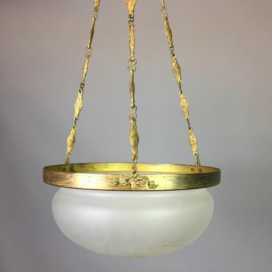 Opaque Glass Hanging Ceiling Light