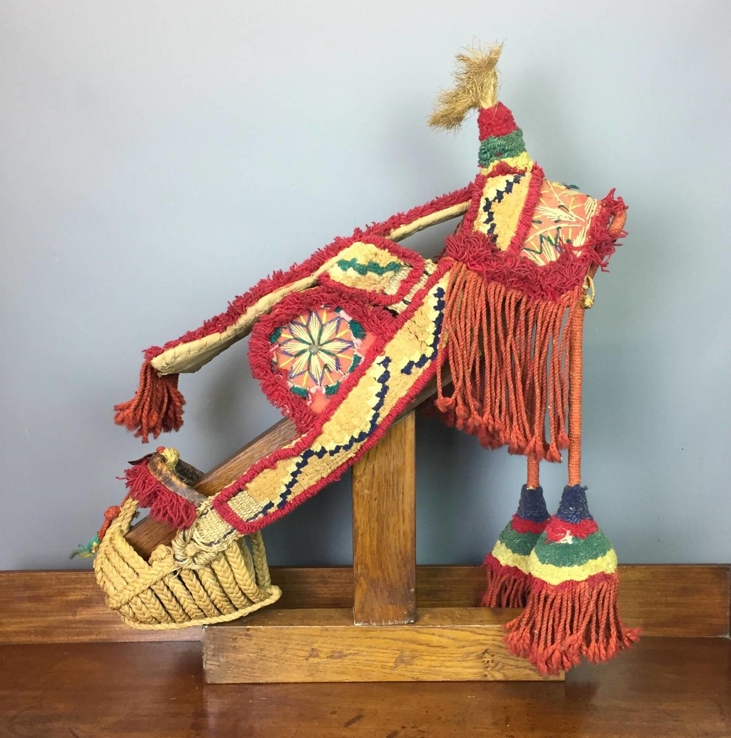 Traditional Spanish Straw & Woolwork Donkey's Harness