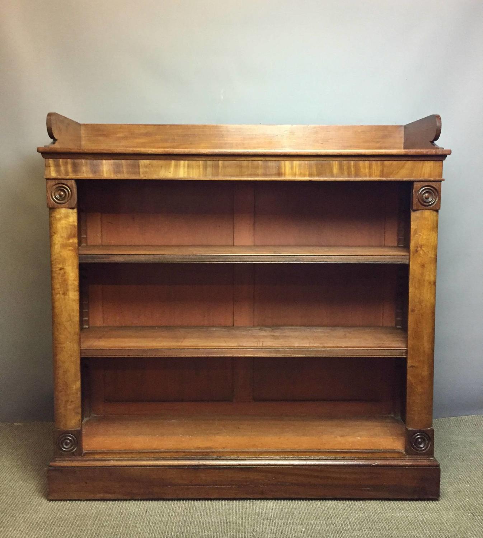 Regency Mahogany Tray Top Open Bookcase