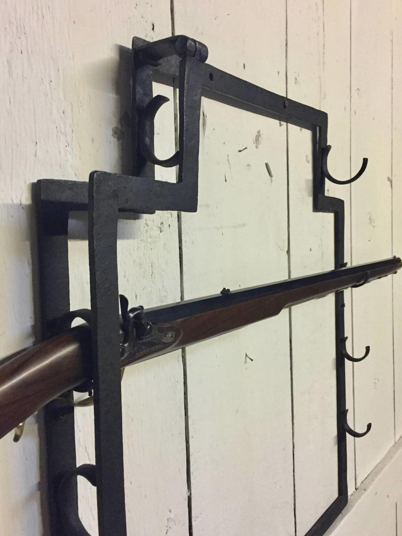 Vintage Wrought Iron Gun / Musket Rack