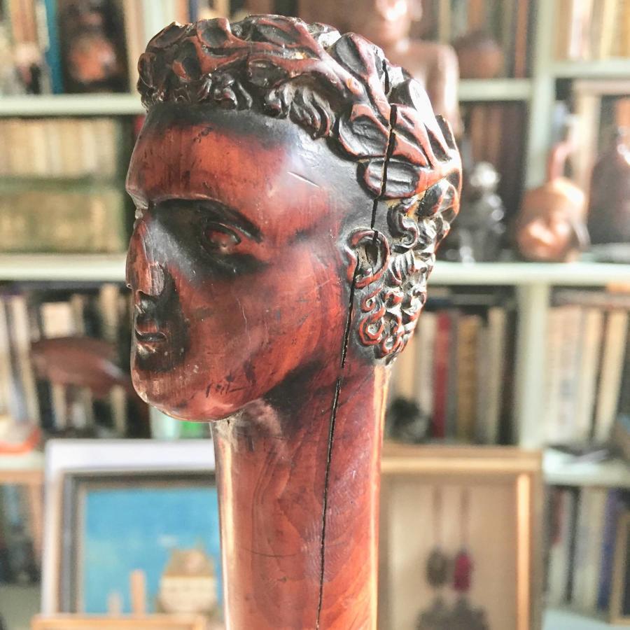 Regency Fruitwood Emperor's Head Walking Cane
