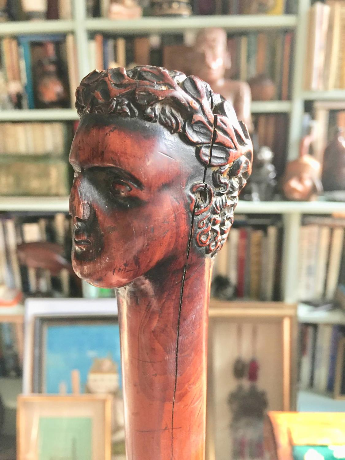 Regency Fruitwood Emperor's Head Walking Cane