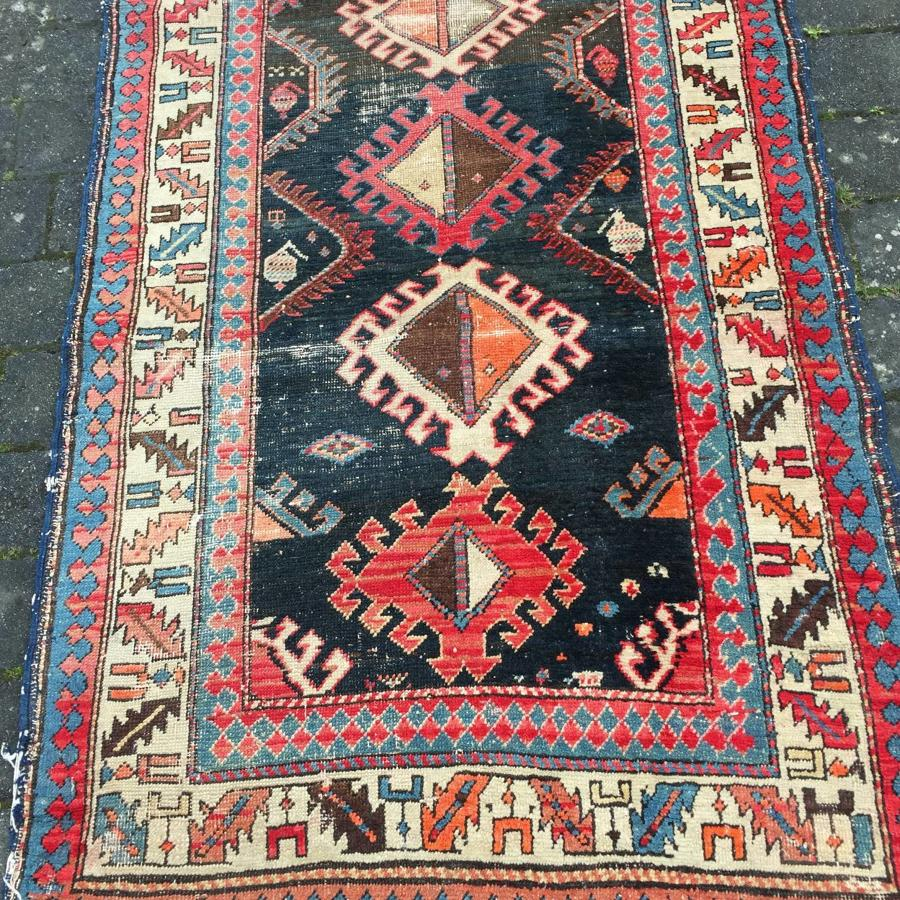 Exceptionally long Caucasian Kazak Long Rug / Runner