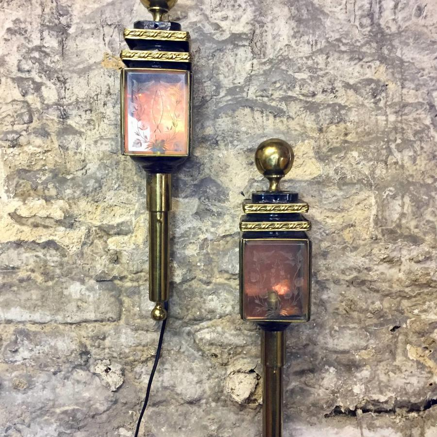 Pair of 19th Century Coaching Lanterns