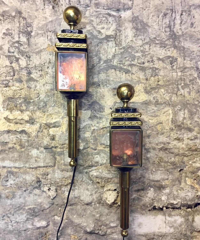 Pair of 19th Century Coaching Lanterns