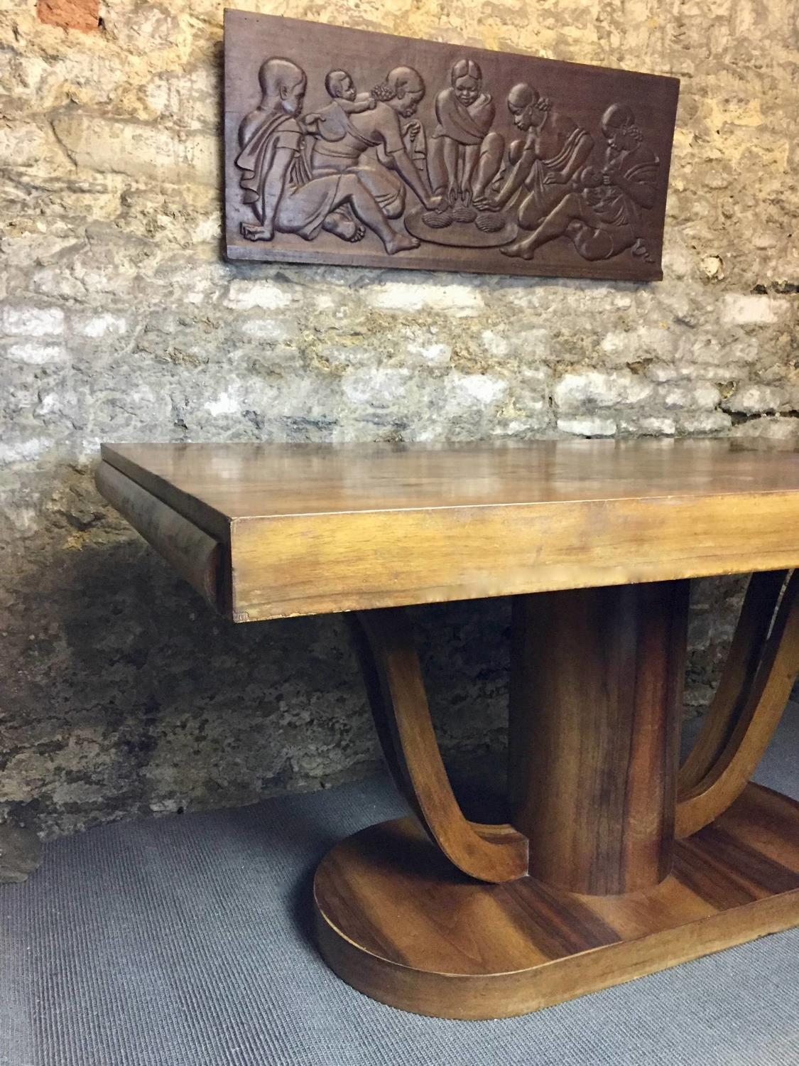 French Art Deco Walnut Dining Room Suite