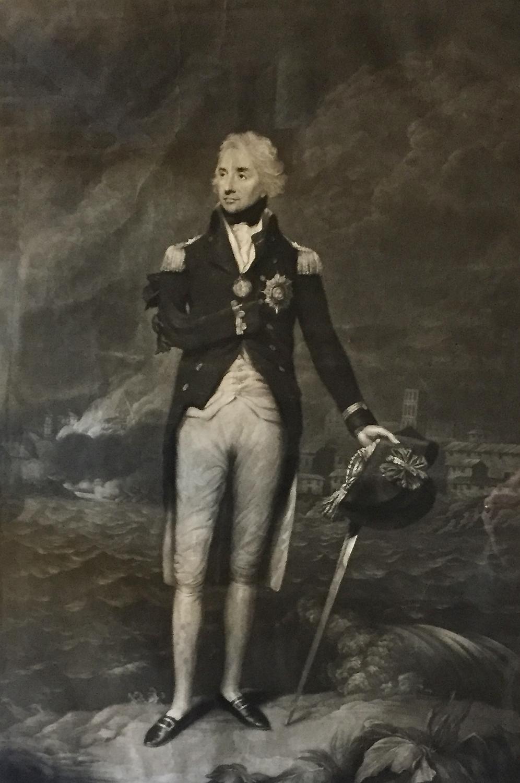 Mezzotint Engraving of Nelson, 1798