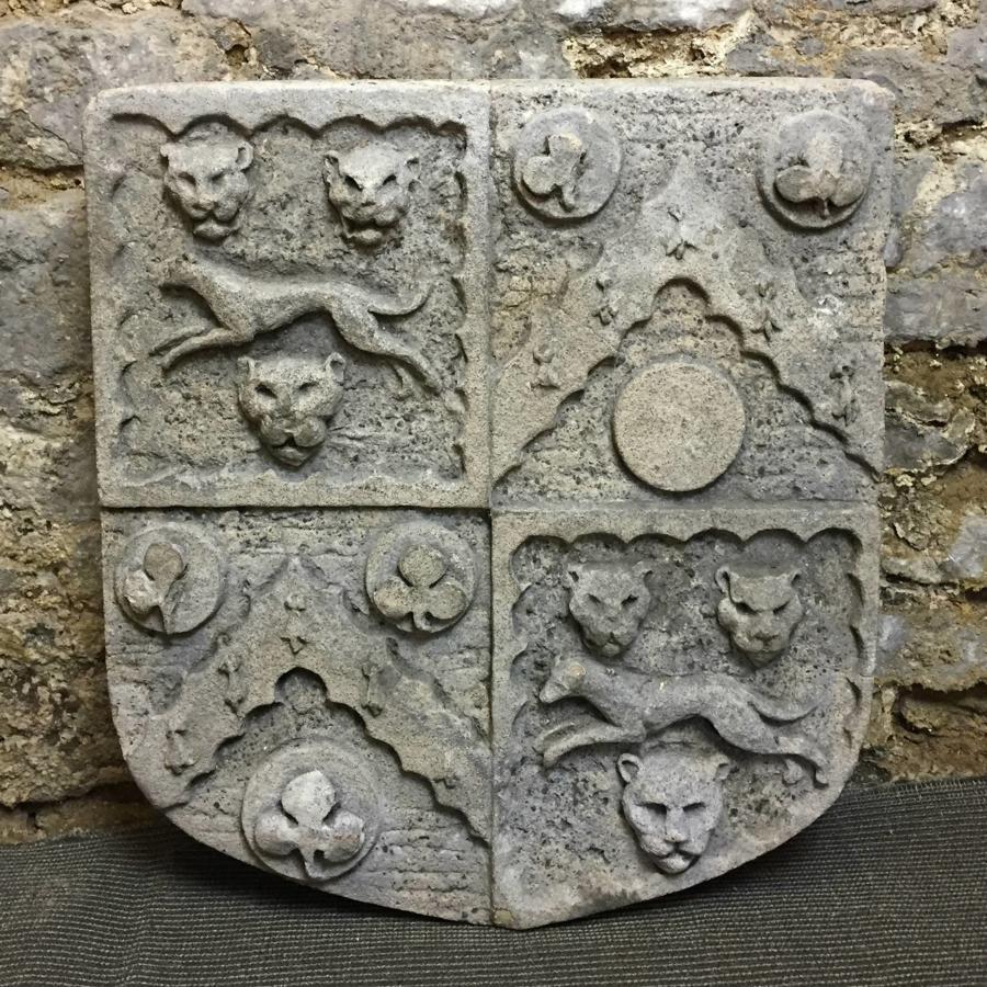 Large Architectural Heraldic Armorial Stone Plaque