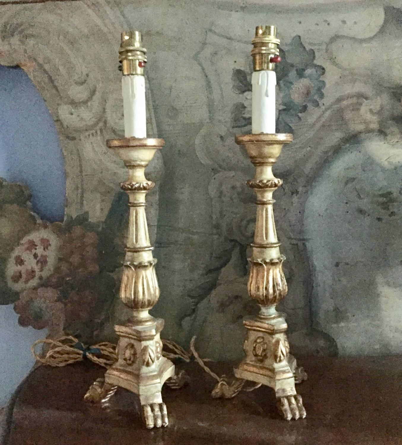 Giltwood Florentine Style Table Lamps