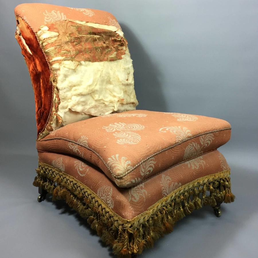 Unusual Victorian Upholstered Chair