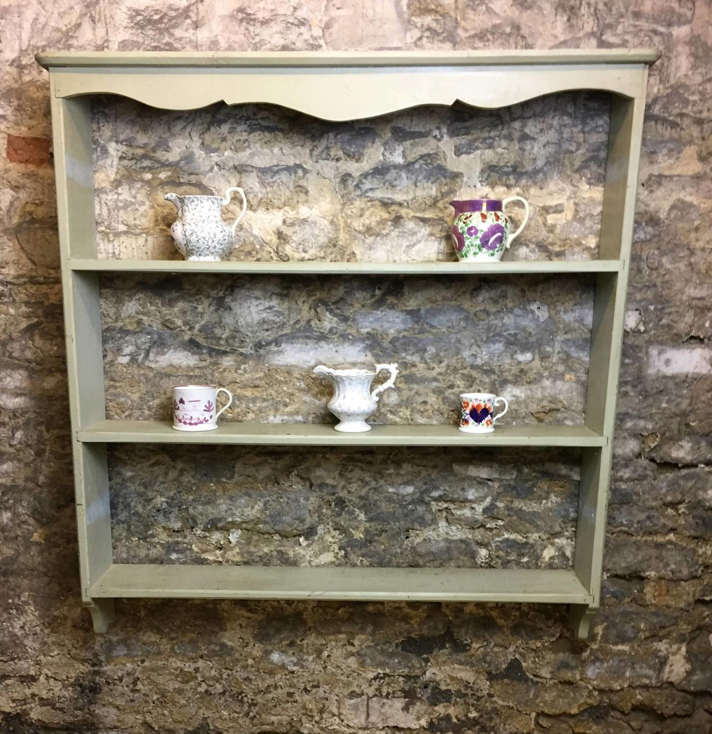 Vintage French Painted Wall Shelves