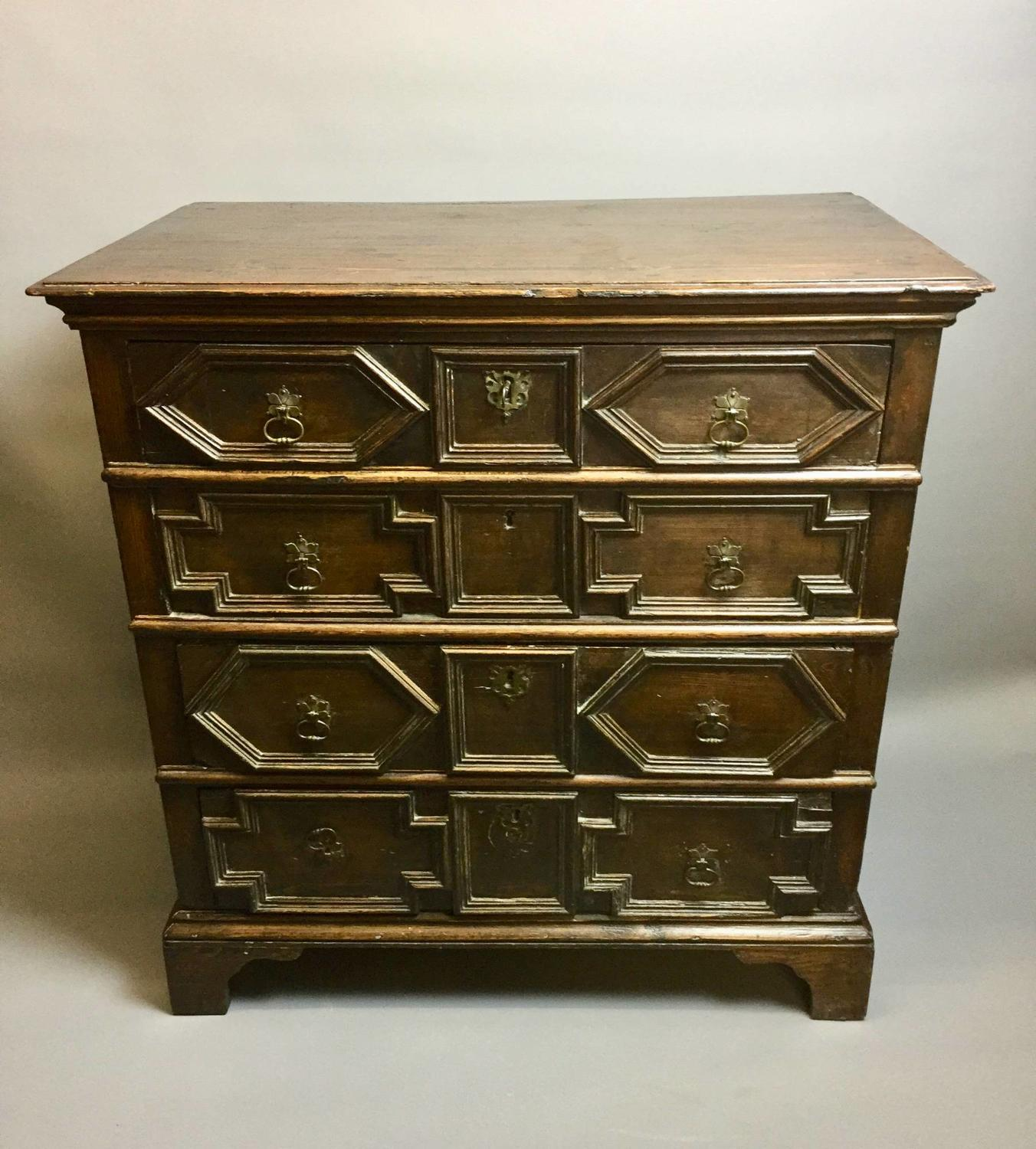 Jacobean Style Stained Pine Chest of Drawers