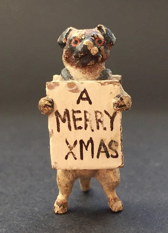 Austrian Cold Painted Bronze Pug Dog