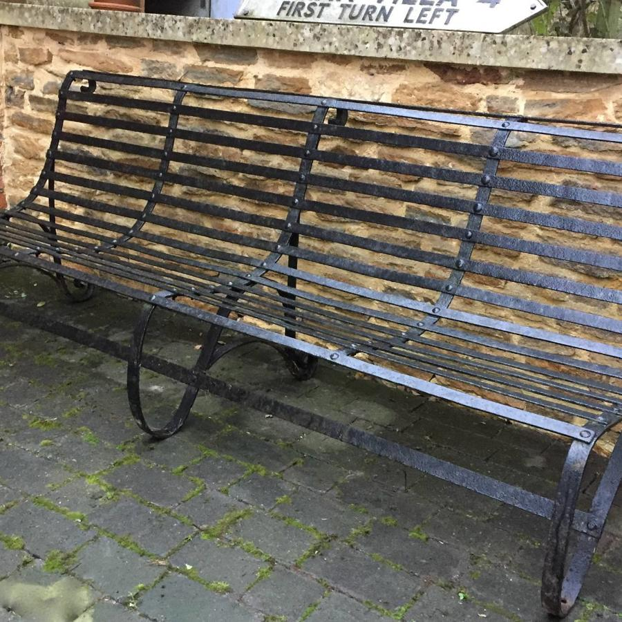 Large Victorian Wrought Iron Garden Bench
