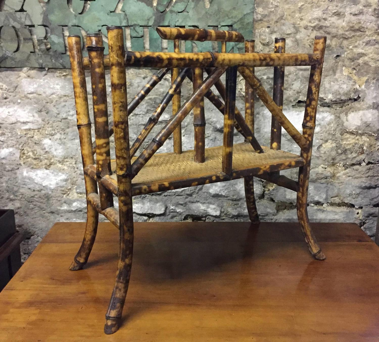 Edwardian Bamboo Magazine Rack