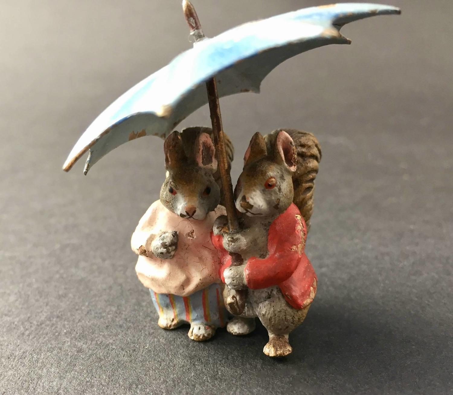 Austrian Bergman Cold Painted Bronze Beatrix Potter Characters Timmy Tiptoes & Goody