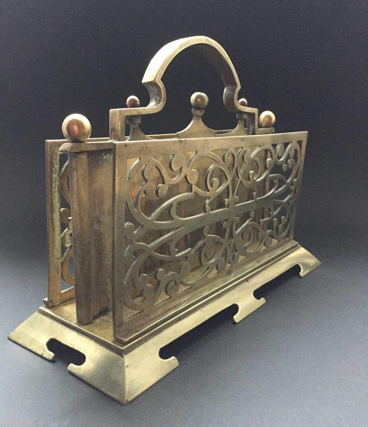 Edwardian Brass Letter Rack