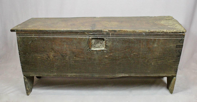 Rustic Oak 17th Century Plank Coffer