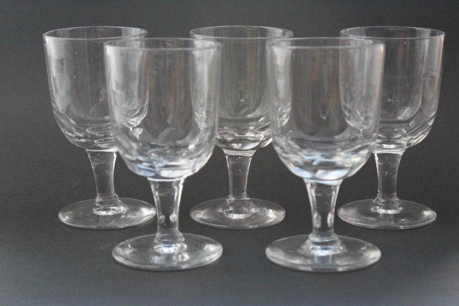 Victorian Hand Blown Thumb Cut Pub Glasses