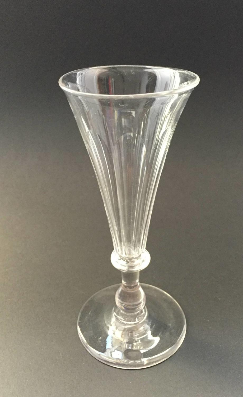 Georgian Cut Glass Champagne Flute