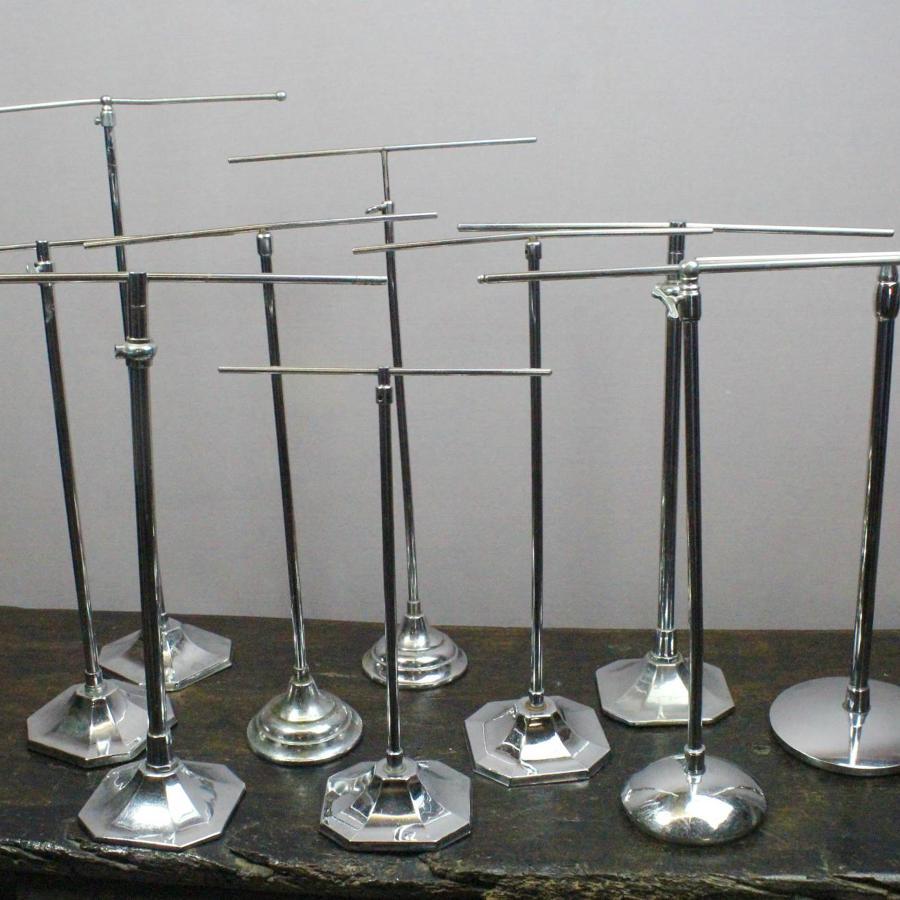 Art Deco Telescopic Chrome Shop Display Stands
