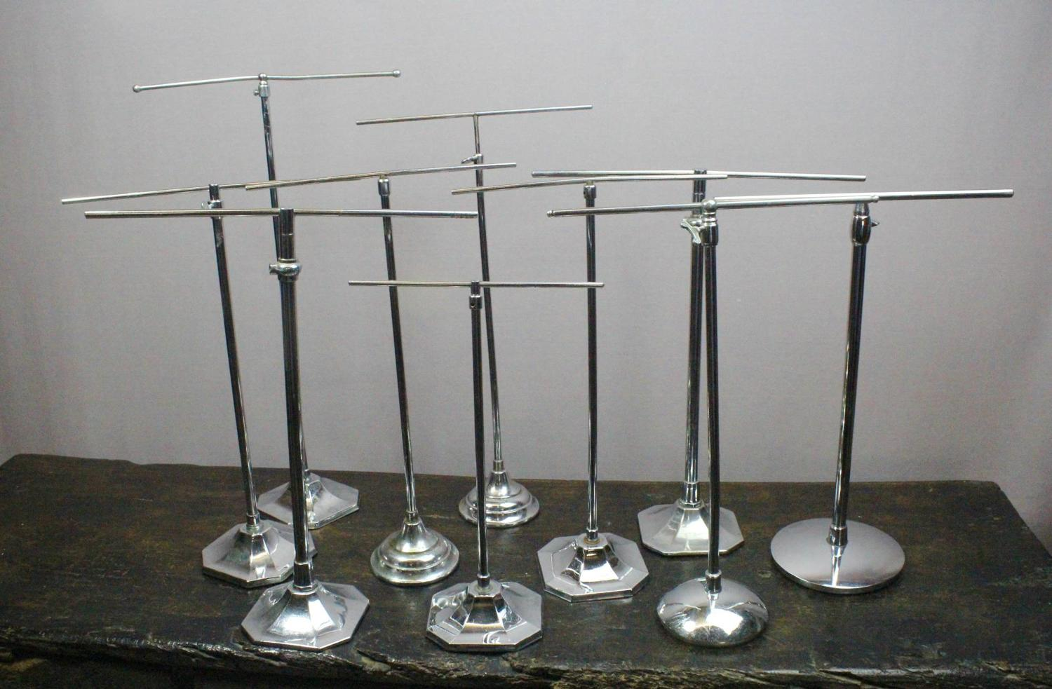 Art Deco Telescopic Chrome Shop Display Stands