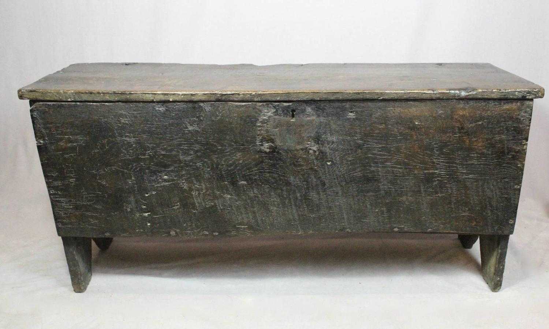 Late 17th Century Oak Six Plank Coffer