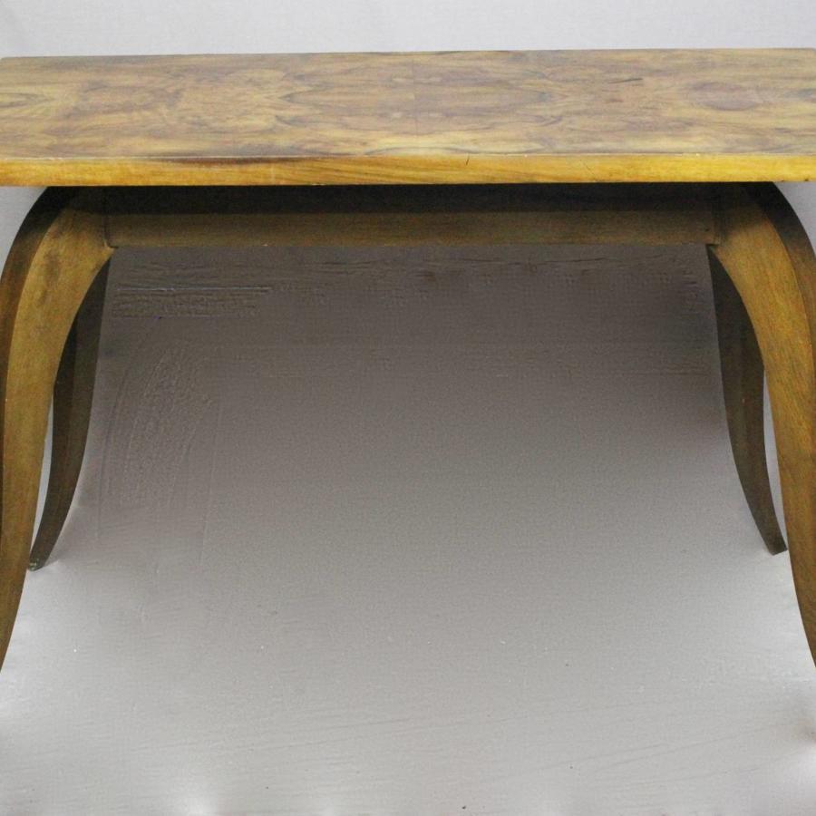 French Art Deco Burr Walnut Table