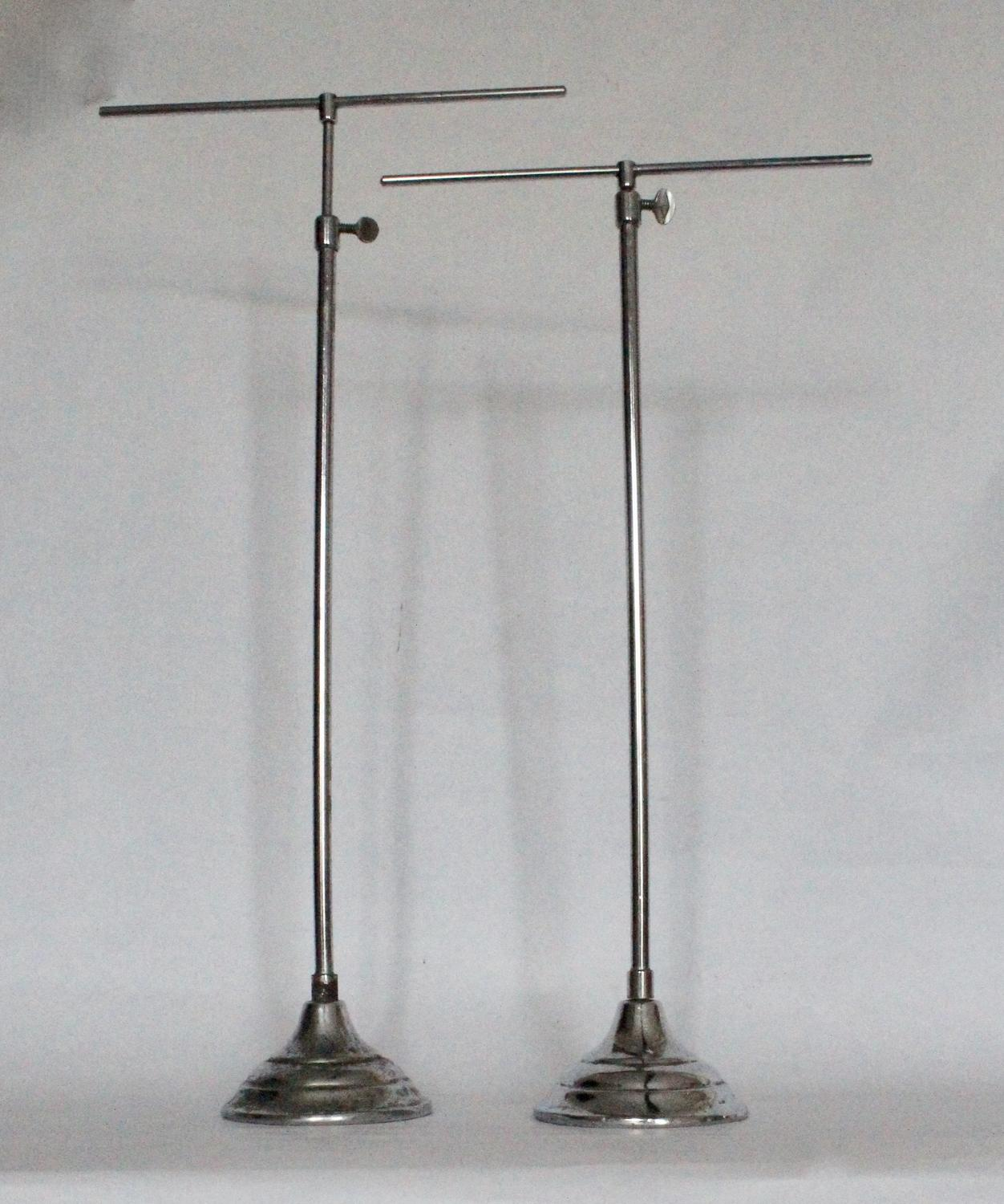 Pair of Telescopic Chrome Shop Display Stands