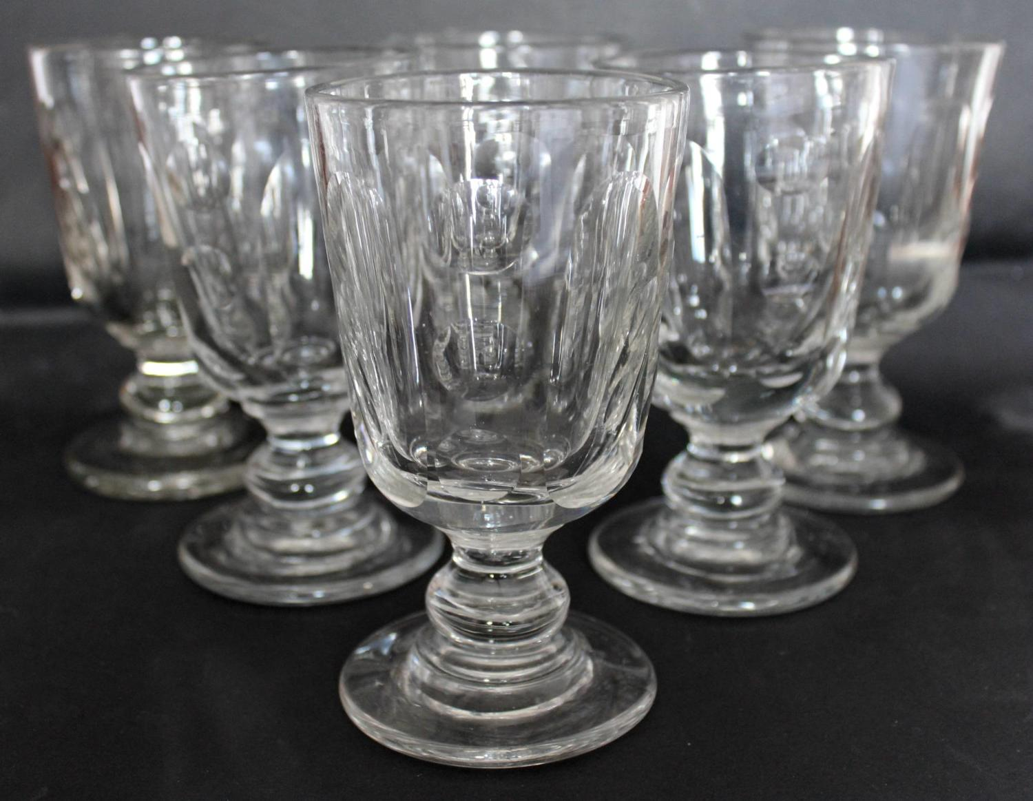 Six Antique Drinking Glasses