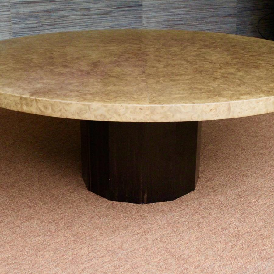 Nico Villeneuve Burr Walnut & Macassar Table