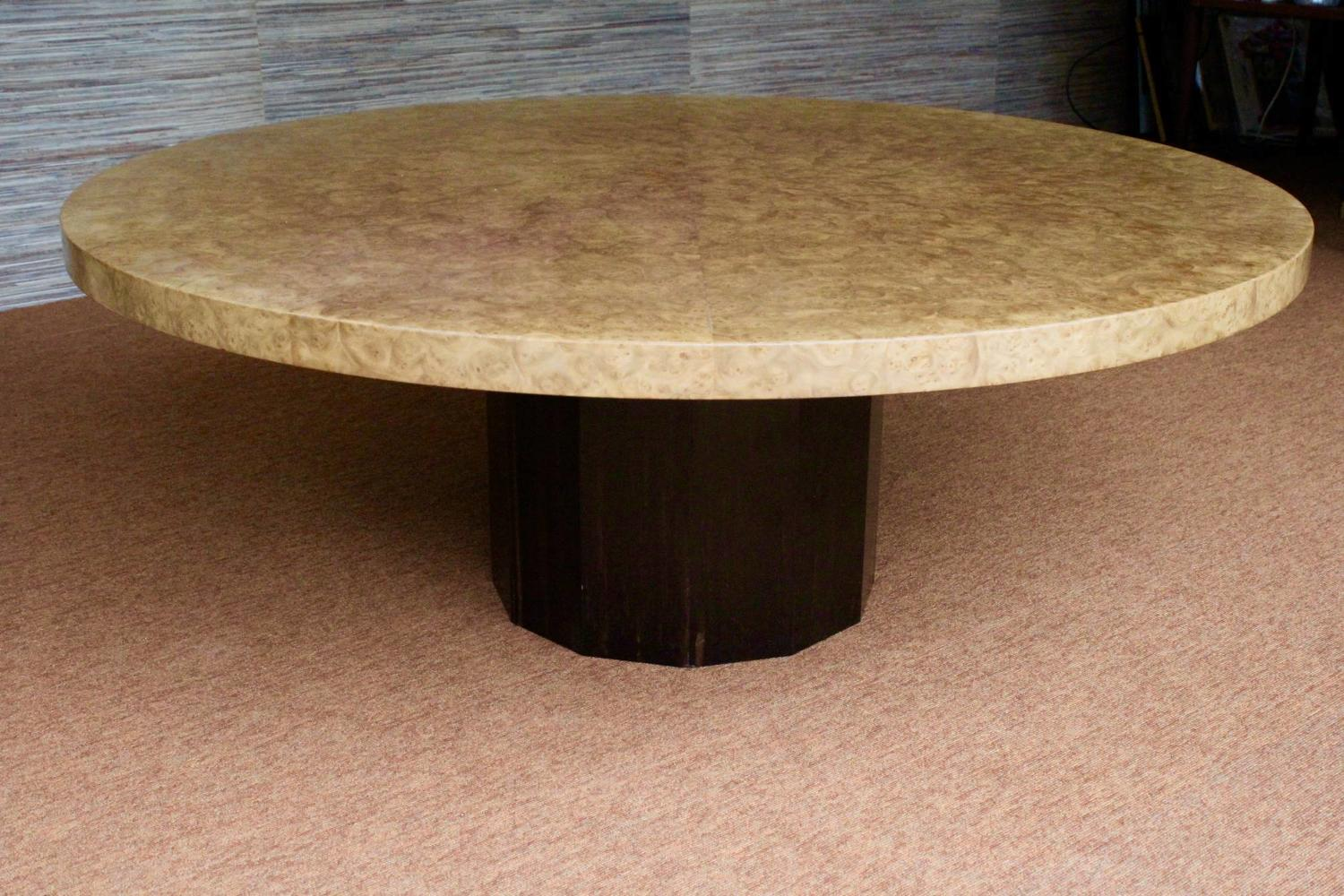 Nico Villeneuve Burr Walnut & Macassar Table