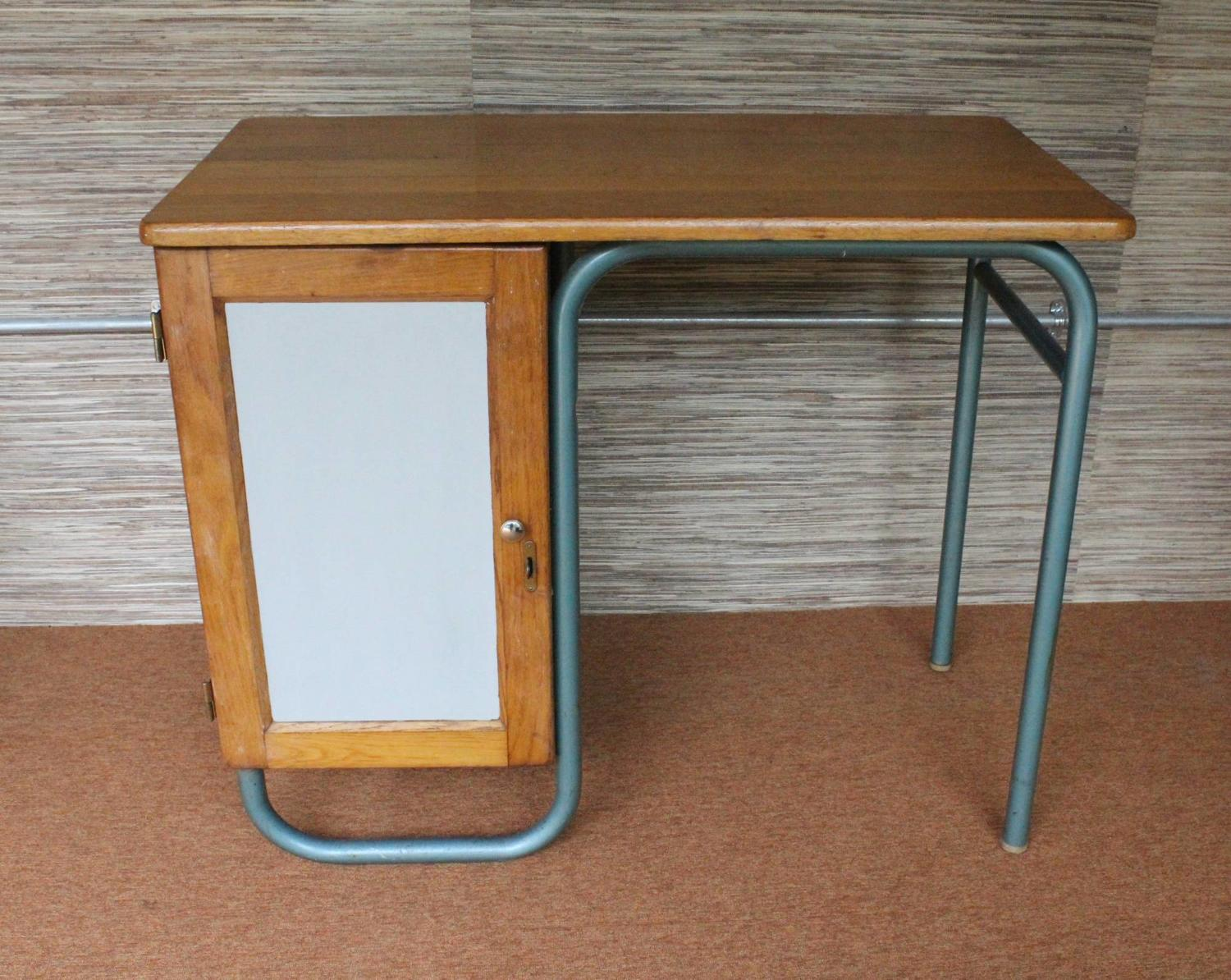 French Mid-Century Tubular Metal Desk