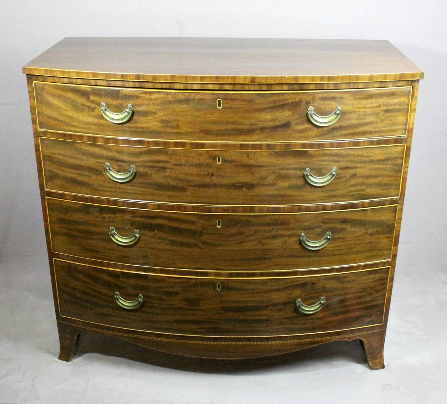 Regency Mahogany Bowfront Chest of Drawers