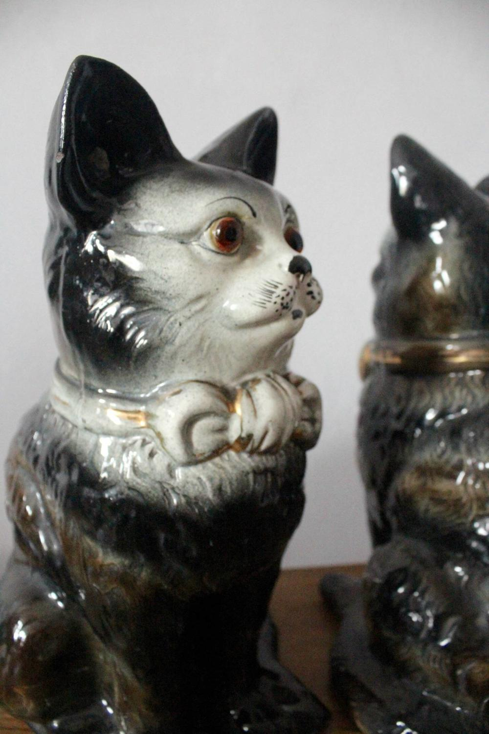 Bo'Ness Staffordshire Pottery Cats