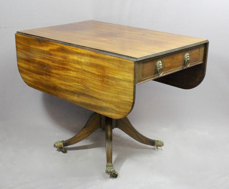 Regency Mahogany Pembroke Library Table