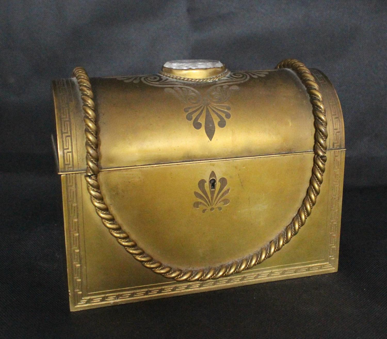 Victorian Gilt Metal Casket