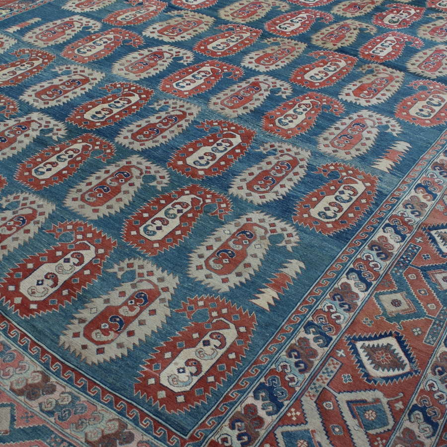 Large Afghan Flatweave Carpet