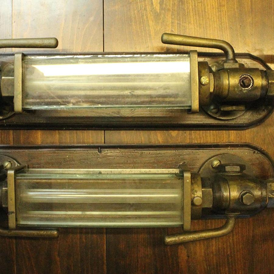 Pair of Antique Steam Locomotive Water Gauges