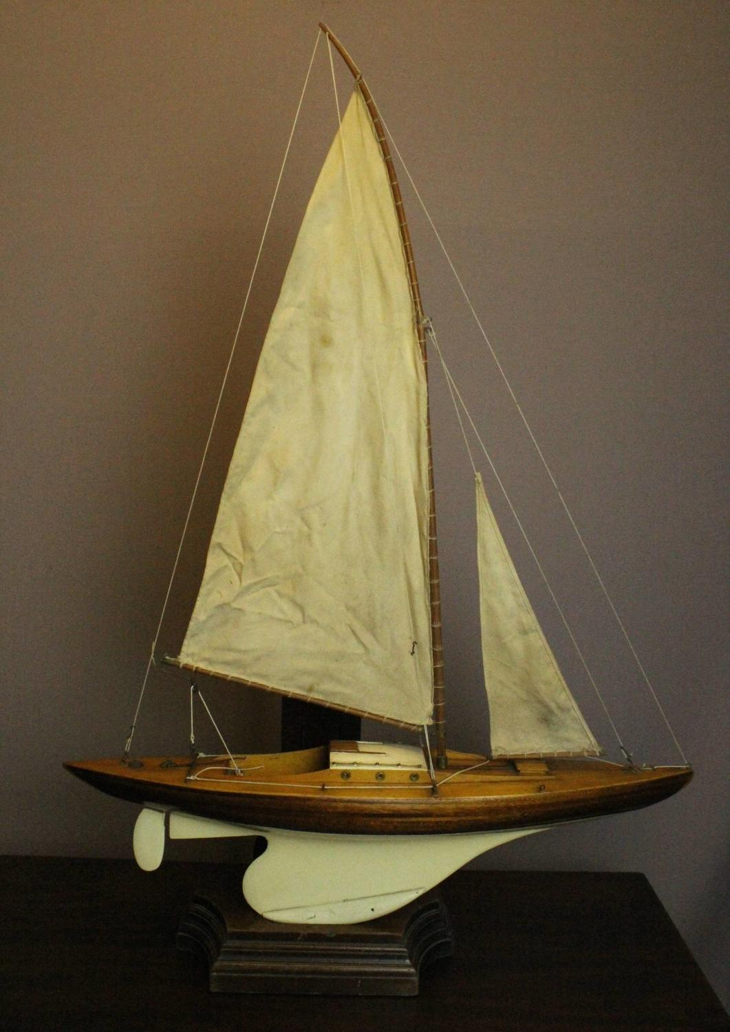 Hand Built Wooden Pond Yacht