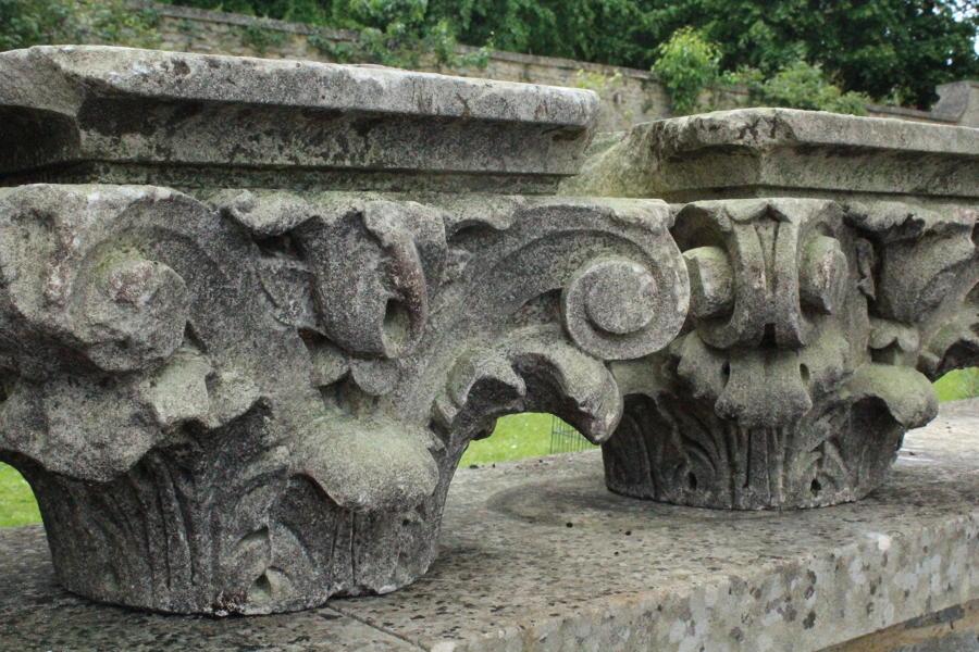 18th Century Carved Stone Corinthian Column Capitals