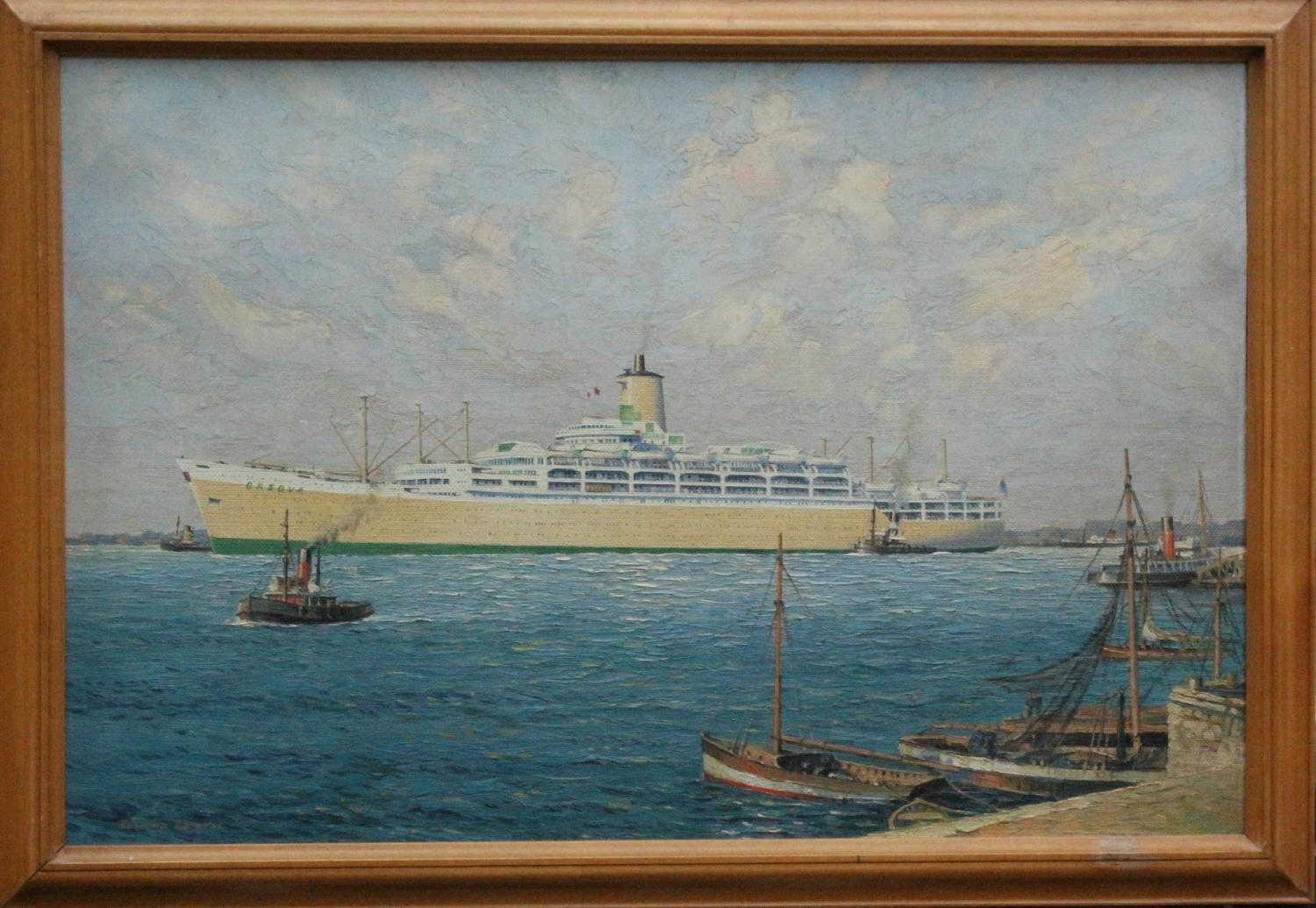 Edward Beckett Oil Painting of SS Orsova
