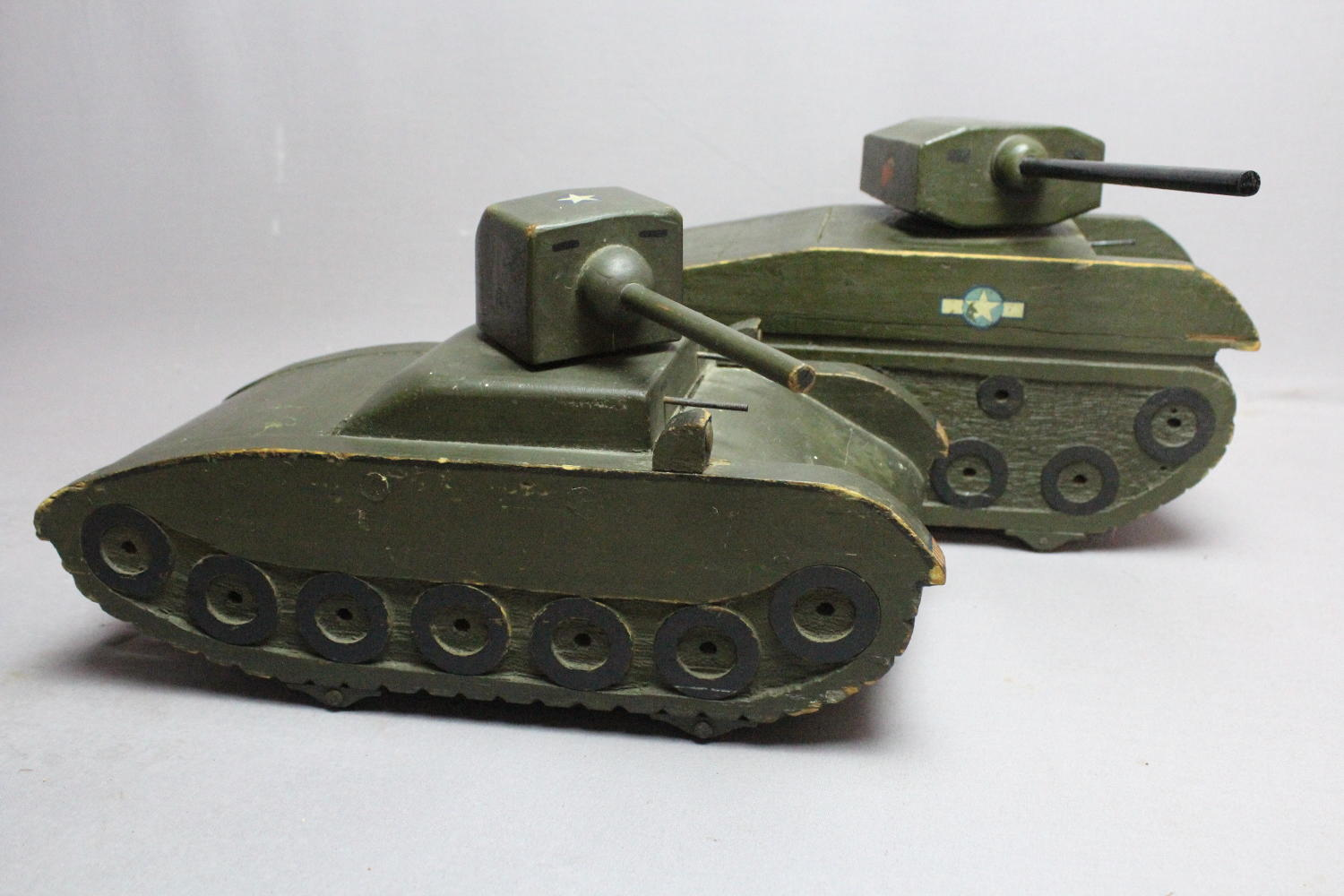 WWII Folk Art Naive Scratch Built Models of Tanks