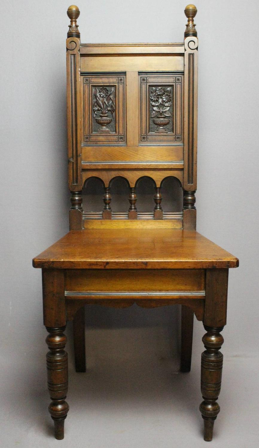 Maple & Co Hall Chair attributed to H.W. Batley