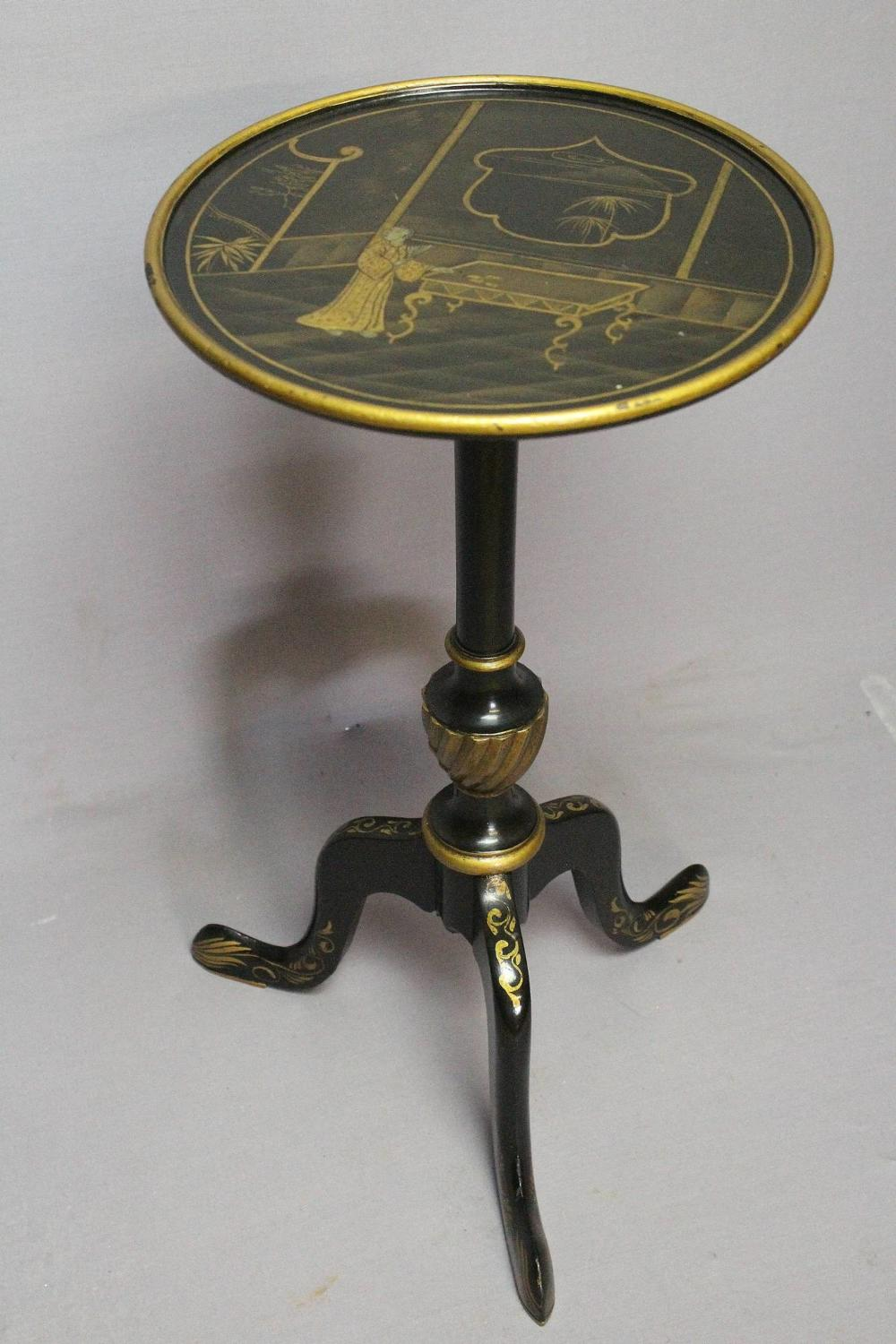 Chinoiserie Decorated Tripod Wine Table